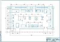 Планировка агрегатного участка АТП 240 автомобилей КамАЗ-55102