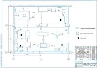 Планировка агрегатного отделения на 200 грузовых автомобилей МАЗ