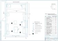 Планировочный чертеж агрегатного участка АТП на 63 грузовых автомобиля