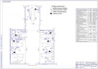 План расстановки оборудования на постах ТО, диагностики и универсальном участке СТО на 8 постов