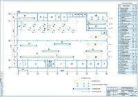 Чертеж производственного корпуса АТП на 250 автобусов