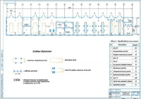 Чертеж производственного корпуса АТП на 63 грузовых автомобиля