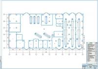 Чертеж производственного корпуса АТП на 250 грузовых автомобилей МАЗ
