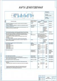 Дефектовочная карта коленчатого вала двигателя ММЗ Д-245