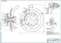 Передний тормозной механизм ВАЗ-2109 Сборочный чертеж