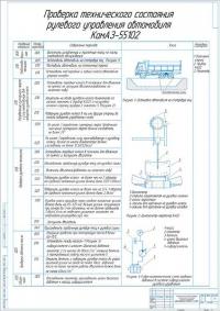 Технологическая карта на проверку технического состояния рулевого управления автомобиля КамАЗ