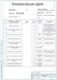 Технологическая карта на сборку компрессора МАЗ-64226