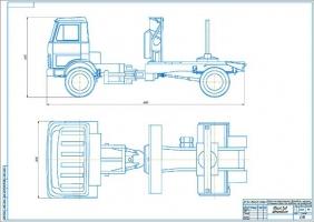 Проект лесотранспортного автомобиля с шарнирно-сочлененной рамой