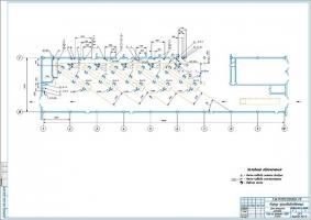 Чертеж зоны ТР АТП на 250 автобусов