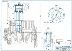 Приспособление для снятия гильз цилиндров из блока двигателя