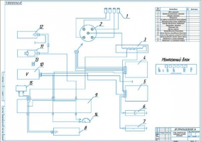 Схема электрическая соединений системы зажигания
