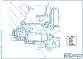Гидросистема управления поворотом
