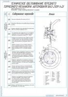Технологическая карта на ТО переднего тормозного механизма автомобиля ВАЗ-2109 2