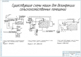 Существующие схемы машин для дезинфекции сельскохозяйственных помещений