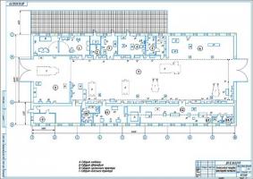 Планировка проектируемой мастерской