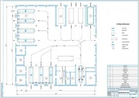 Планировка производственного корпуса СТО автомобилей МАЗ