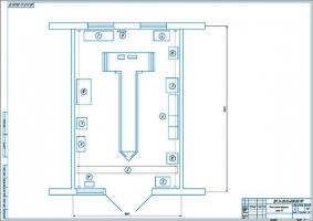 Спроектированный план стационарного поста технического обслуживания