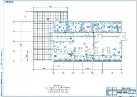 Планировочный чертеж ЦРМ хозяйства