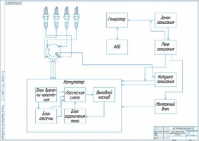 Схема электрическая функциональная системы зажигания