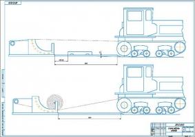 Схема работы стенда замены гусеничных лент