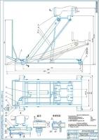 Подкатная домкратная тележка для снятия-установки агрегатов