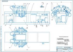 Стенд проверки системы охлаждения блока цилиндров на герметичность