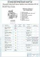 Технологическая карта на регулировку подшипников ступицы переднего колеса автомобиля ЗИЛ-130