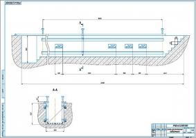 Расположение проектируемого подъемника в осмотровой канаве