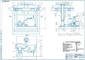 Электрогидравлический подъемник для замены КПП и агрегатов
