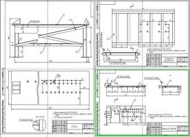Сборочные чертежи стола, крышки и платформы