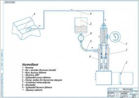 Схема соединения прибора проверки дизельных форсунок