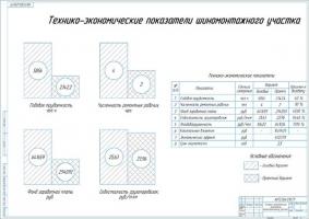 Технико-экономические показатели шиномонтажногоу участка