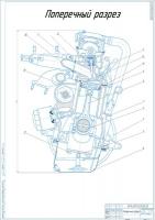 Поперечный разрез двигателя ВАЗ 21083