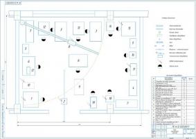 Планировочный чертеж участка по ремонту агрегатов автомобилей КамАЗ