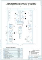 Планировочный чертеж электротехнического участка АТП