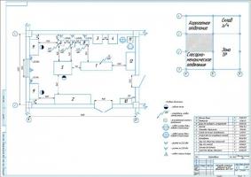 Планировка моторного отделения на 258 автомобилей ЗИЛ-5301