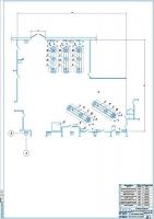 Планировочный чертеж зоны текущего ремонта АТП 250 грузовых автомобилей МАЗ