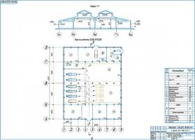 Планировка авторемонтных мастерских на 133 автомобилей и автобусов