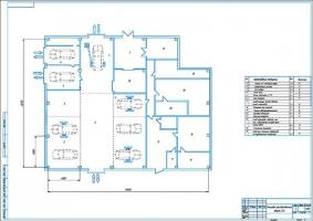 Планировка производственного корпуса СТО на 8 рабочих постов