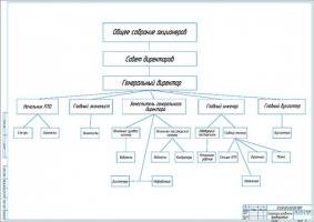 Структура управления грузового АТП на 77 автомобилей