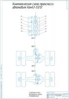 Кинематическая схема трансмиссии автомобиля КамАЗ-53212