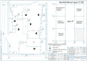 Планировка слесарно-механического участка парка автобусов ПАЗ